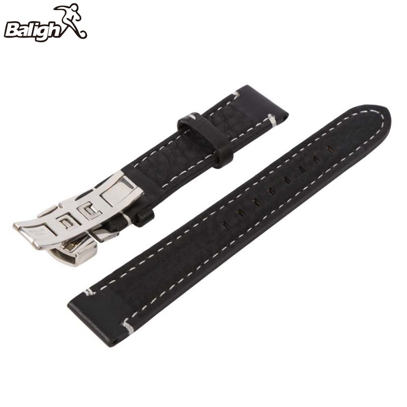 цены Newest Fashion Unisex Watchbands Womens Leather Watch Strap Band Mens Stainless Steel Buckle 18 20 22mm