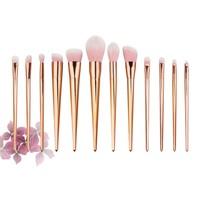 Fashion 15pcs Rose Gold Makeup Brushes Tools Set Foundation Blush Powder Concealer Brush Make Up Cosmetic