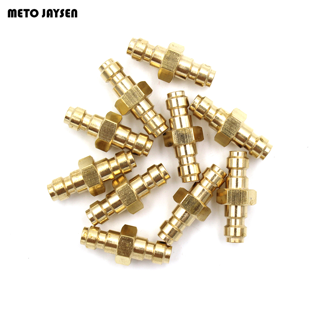 PCP Airforce Paintball Copper Double End Male Plug Quick Coupler Connector For Air Socket CP002 3 PCS=1 LOT