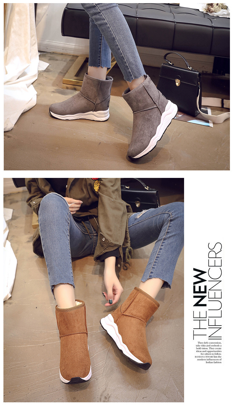 Winter Snow Boots Women Casual Shoes Slip On Warm Plush Women Ankle Boots Flat Heel Sport Ladies Shoes Booties Botas Mujer XZ82 (4)