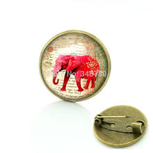Stile di estate Elephant spilla pin Abito Vintage Accessori gioielli India animale pins regalo per le donne Spedizione gratuita BP84(China)