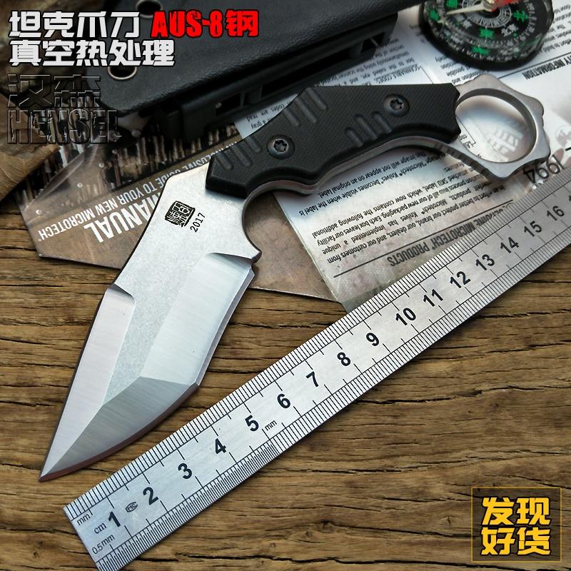 AUS-8 lame acier froid couteau tactique cs go poche couteaux fixes utilitaire camping outils plongée survie chasse plein air essentiel