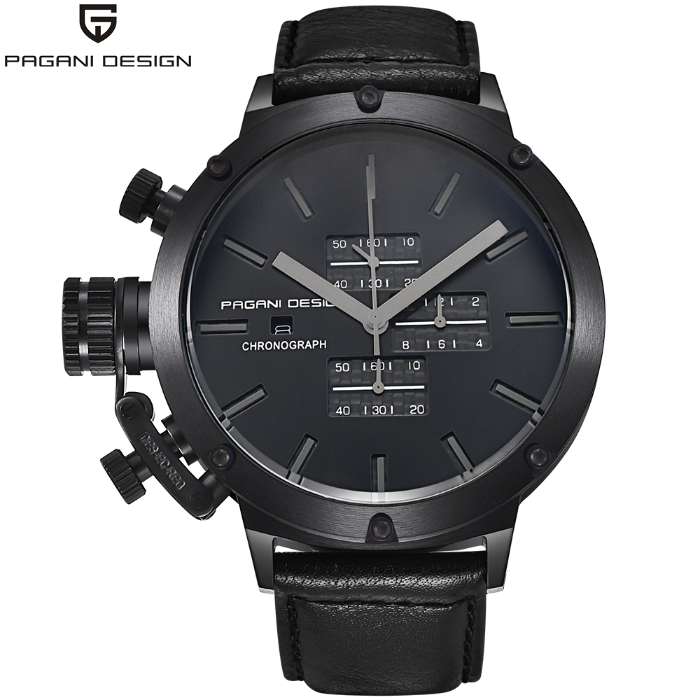 PAGAIN Design Multifunction sport mens watches leather strap army military quartz watch men fashion big dial student wristwatch men army watch military male quartz watches fabric canvas strap casual cool men s sport round dial relojes hot sale wristwatch