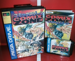 Image 1 - Comix Zone   MD Game Cartridge Japan Cover with box and manual For Sega Megadrive Genesis Video Game Console 16 bit MD card