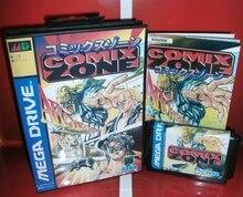 Comixゾーン mdゲームカートリッジ日本カバーボックスとマニュアルセガメガジェネシスビデオゲームコンソール16ビットmdカード