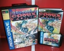 Comix zone cartucho de jogo md japão capa com caixa e manual para sega megadrive genesis console de jogos de vídeo 16 bit cartão md