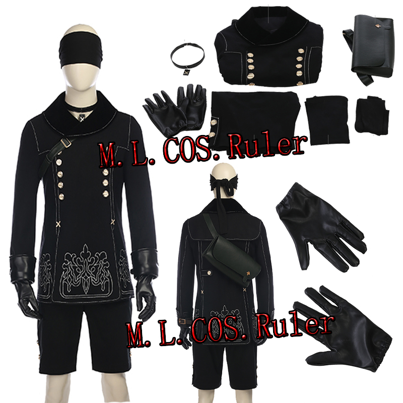 New Type NieR:Automata YoRHa No.9 Type S Cosplay Costume All Size Unisex High Quality Halloween Clothes Full Set Without Boots
