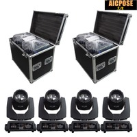 4pcs/lots 230w 7r Beam Light with flight case DMX512 control Moving Head Lights Professional Stage Party Stage Lighting Effecte