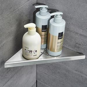 Image 5 - Bathroom Kitchen Storage Shelf Wall Mounted Stainless Steel Shower Caddy Rack Brushed Nickel Black Commodity Holder