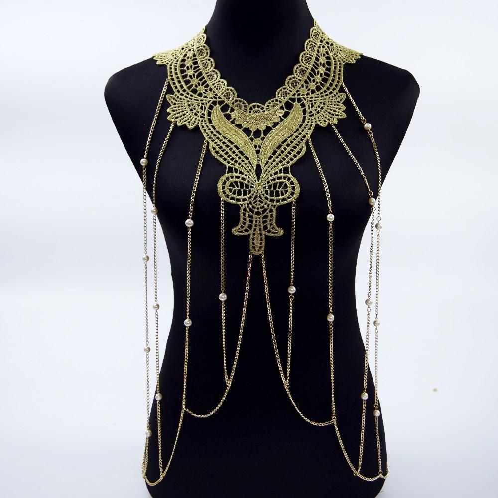Trendy Necklace Women Lace...