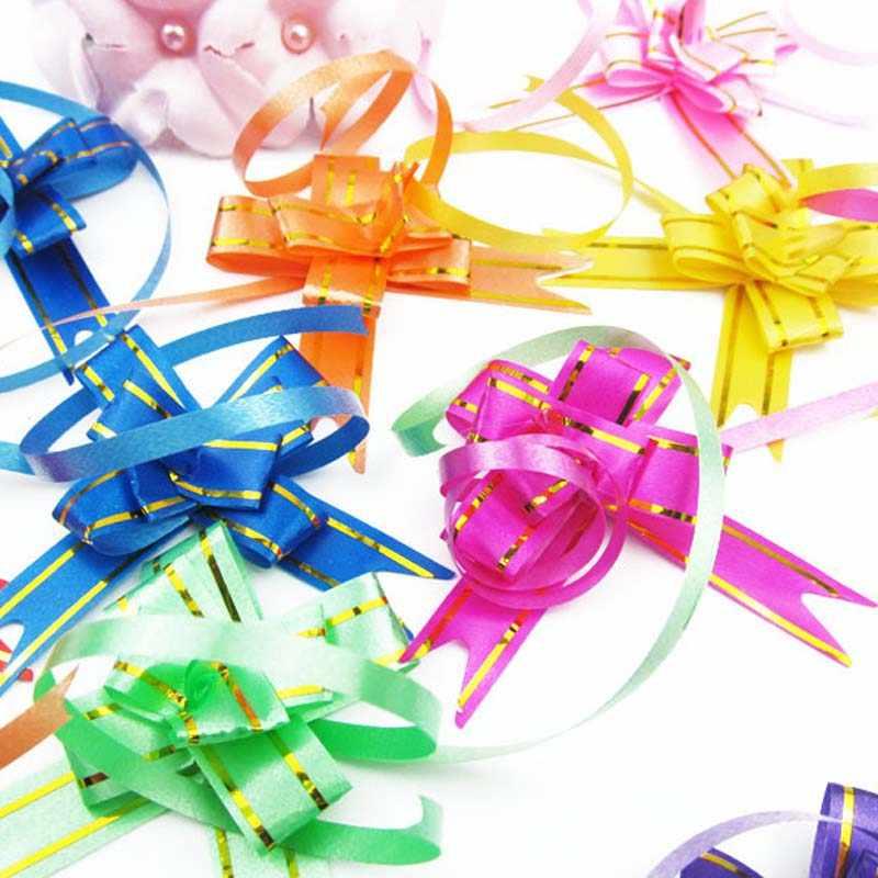 10pcs Ribbon Pull Bows Flower Wedding Decoration Gift Wrap DIY Fresh H.dr