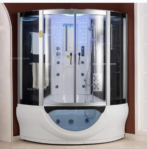lujo moderno de vapor cabina de ducha con vidrio templado