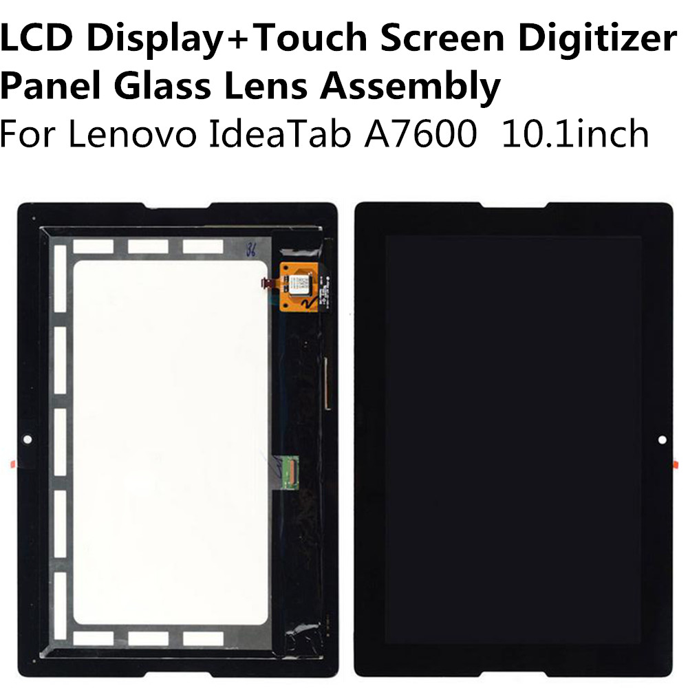 LCD Display + Touch Screen Digitizer Panel Glass Lens Assembly For Lenovo IdeaTab A7600 10.1inch Replacement Parts Repair Part