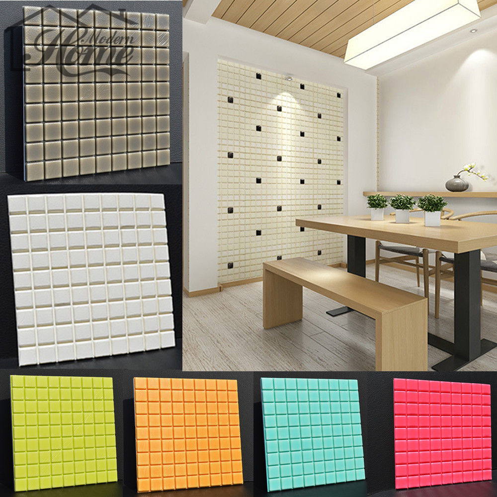 30*30cm PE Foam Elastic 3D Plate DIY Wall Sticker Brick Living Room Kids Bedroom Decorative Sticker Safty Home Decor Wallpaper
