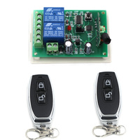 Top Selling New DC12V 24V 2CH Radio Controller RF Wireless Relay Remote Control Switch Transmitter Receiver