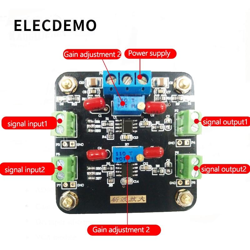 Image 2 - TLC2652 module weak signal amplification DC signal amplification chopper amplifier Function demo board-in Demo Board Accessories from Computer & Office