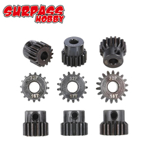 цена на SURPASSHOBBY 32DP 5mm 13T 14T 15T/16T 17T 18T/19T 20T 21T Metal Pinion Motor Gear for 1/10 1/8 RC Buggy Car Monster Truck