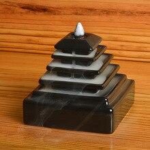 Q Livraison Gratuite Creative Fumée Reflux Encensoir En Céramique Tiantan Ornement De Bois De Santal Encens Noir Glaçure Céramique Encensoirs