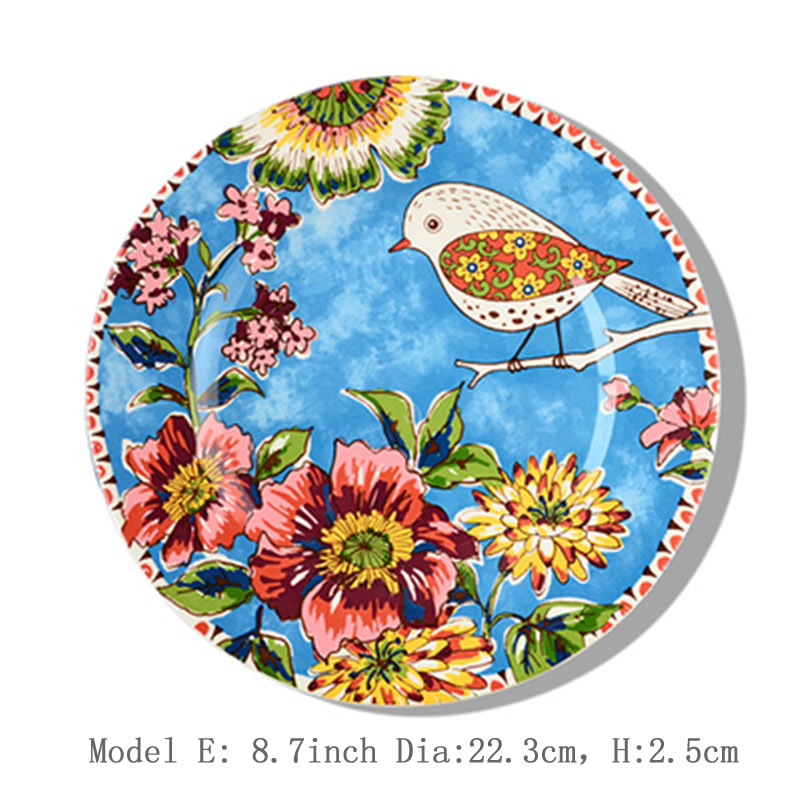 Ceramic Tableware Set Creative Hand Painted Oil Painting Steak Plates Pasta Dishes Food Tray Dinner Plate Christmas Gift 1pcs-in Dishes u0026 Plates from Home ...  sc 1 st  AliExpress.com & Ceramic Tableware Set Creative Hand Painted Oil Painting Steak ...