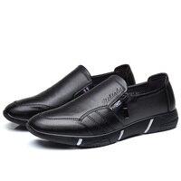 Contindon أيل ليماسول 24-38 الأزياء رجل الأعمال أحذية جلدية حقيقية عالية الجودة لينة عارضة تنفس الرجال شق الجانب أحذية البريدي