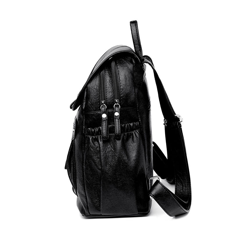 HTB1MMYoaLvsK1Rjy0Fiq6zwtXXaP 2018 Women Backpack high quality Leather  Fashion school Backpacks Female Feminine Casual Large Capacity Vintage Shoulder Bags