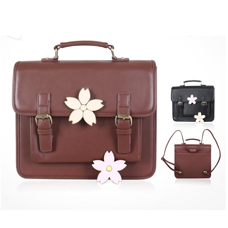 Лолита Сакура сумка JK форма Косплэй сумки японский школьников цветущей сакуры 3-путей мешок Портфели