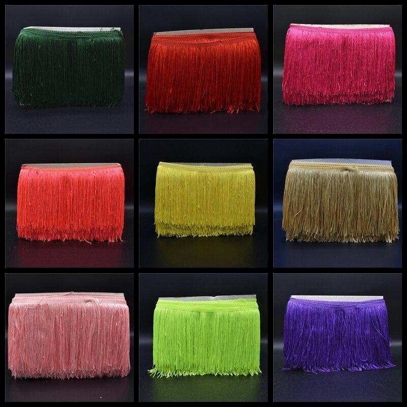 10Yard / Lot 15cm pitkä pitsi reunus koriste polyesteri tupsu reunus - Taide, käsityöt ja ompelu - Valokuva 1