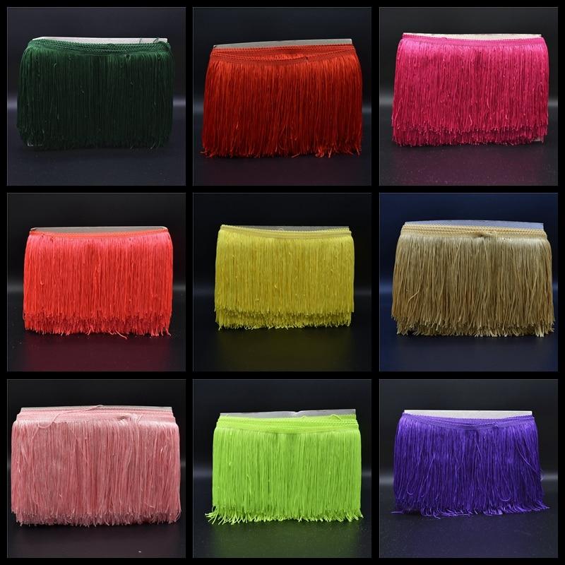 10Yard / Lot 15CM Long Lace Fringe Trim Polifonike Tassel Fringe - Arte, zanate dhe qepje