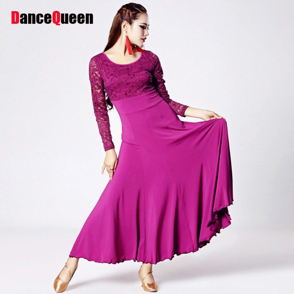 ⑦2017 nuevas mujeres Salón Dance dress Ladies vestido de baile vals ...