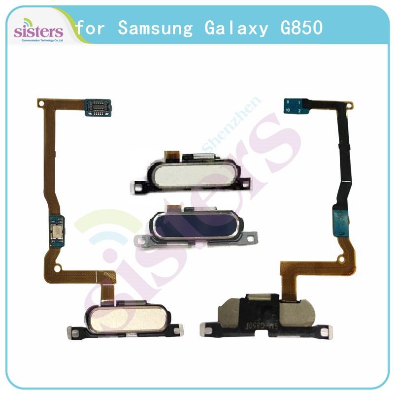Fingerprint Flex Cable For Samsung Galaxy Alpha G850 G850F Home Button Flex Cable For Samsung Alpha G850 G850F Original Working