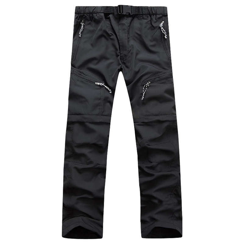 Men Quick Dry Pants 2018 New Men Pants Removable Straight Pants Quick Dry Breathable Trousers