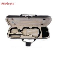 High Grade Over edging Violin Case w/ Hygrometer Full Size 4/4 Black Canvas Violino Case Professional Violin Accessories
