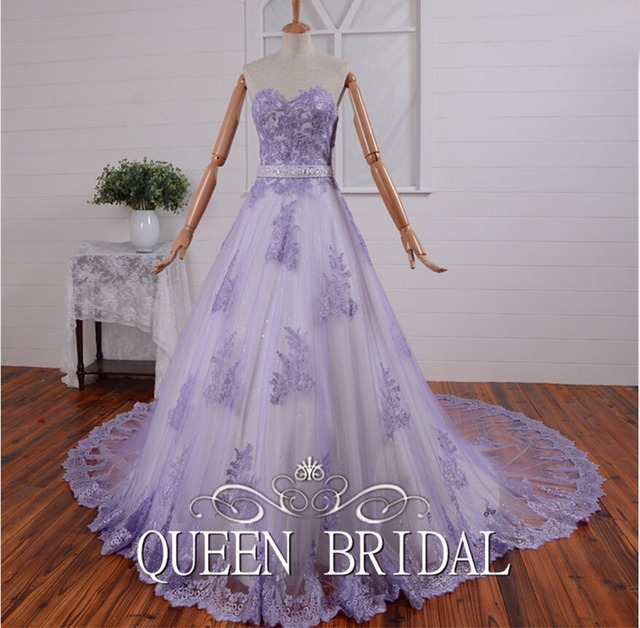 Custom made ball gown sweetheart lace tulle woman arabic wedding custom made ball gown sweetheart lace tulle woman arabic wedding gowns dubai lavender bridal dress junglespirit