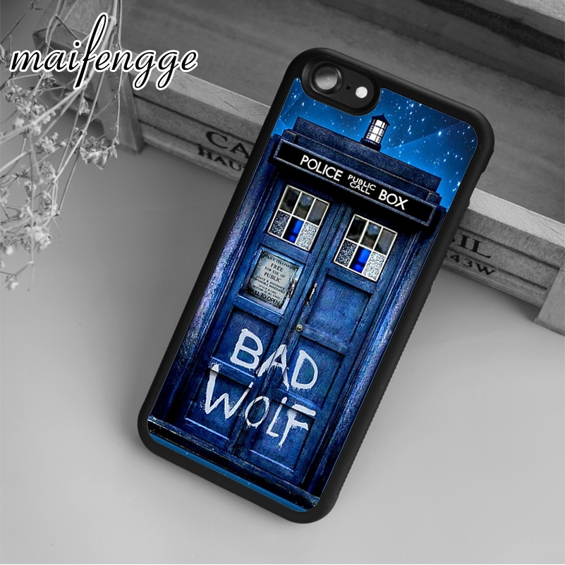 Maifengge Tardis Doctor Dr Who Case For Iphone 6 6s 7 8 Plus X 5 5s Se Case Cover For Samsung S5 S6 S7 Edge S8 Plus Shell Lustrous Surface Cellphones & Telecommunications Fitted Cases