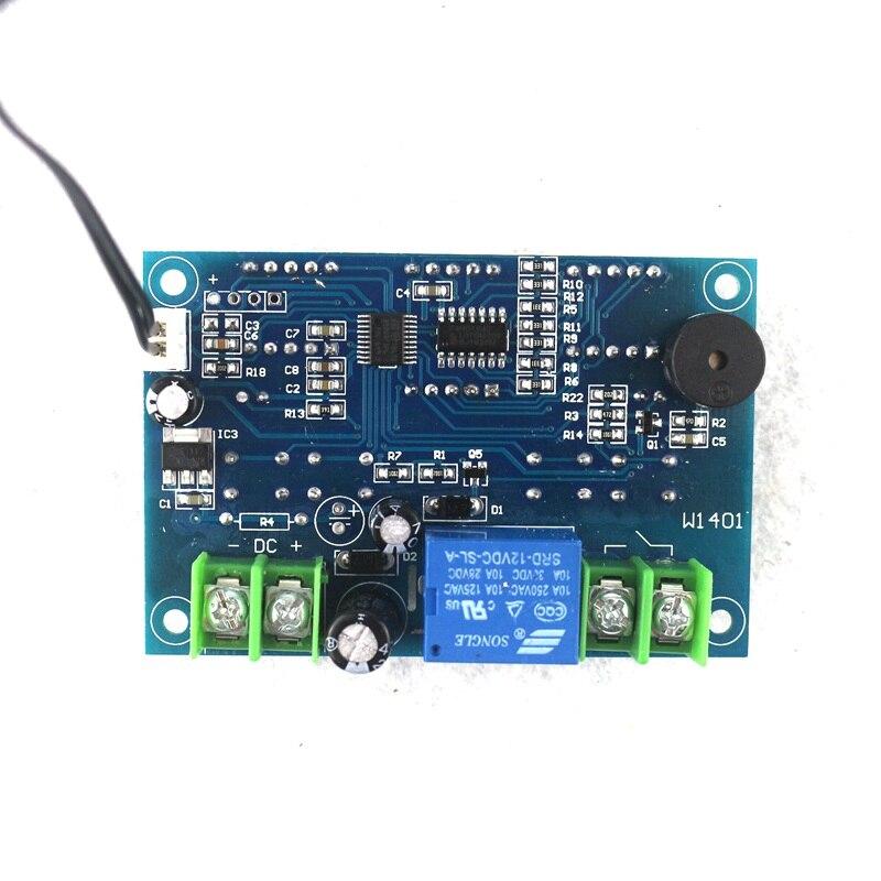 W1401 DC 12 V Thermostat numérique régulateur de température régulateur de Thermostat Intelligent avec capteur NTC relais 220 V 10A/12 V 10A