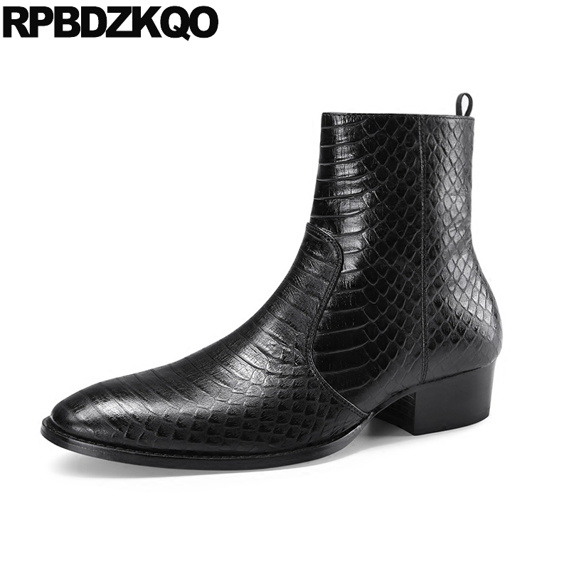 mens pointed toe dress boots formal