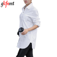 Women White Shirt 2016 Shirt Male Long Sleeve Plus Size Shirt Female Fashion Shirt Cotton Women