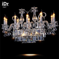 Living Room Led Lamps European Style Rectangular Dining Crystal Candle Chandelier Factory Outlets Free Delivery