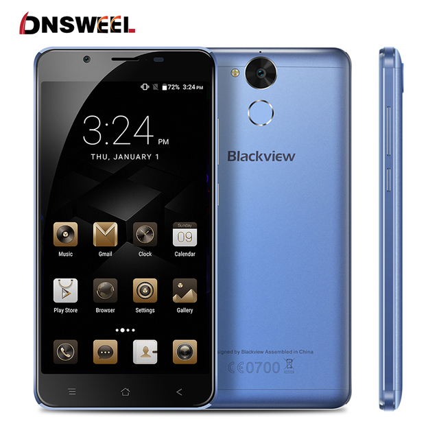 "Blackview P2 Lite smartphone Android 6.0 3G+32GB Cell Phone MT6750T Octa Core 5.5""FHD 6000mAh 13MP+8MP Fingerprint Mobile Phone"