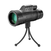 AOMEKIE 10X42 Monocular with Compact Tripod Powerful Wide Field of View Telescop