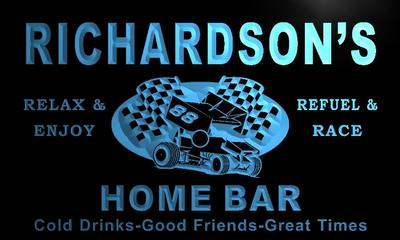 x1063-tm Richardsons Home Bar Pit Stop Custom Personalized Name Neon Sign Wholesale Dropshipping On/Off Switch 7 Colors DHL