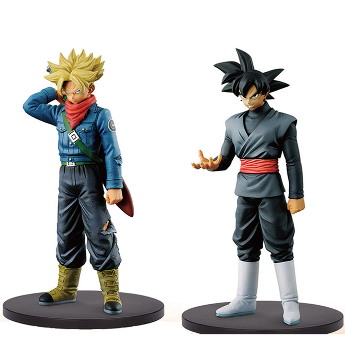Dragon Ball Z Super trunks Black goku DXF The Super Warriors anime action font b toy