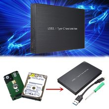 TYPE C Usb3.1 Hard Disk Box HDD External Enclosure For Notebook HDD Hard disk Mobile Box SATA Tool 2.5 Inch HDD