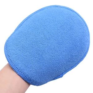 Image 3 - 5 pcs Tamanho Grande Microfibra Aplicador de Cera Do Carro Almofadas de Polimento De Esponja de Alta Densidade Bolso Luvas Remover A Cera Detalhamento Wash Limpa