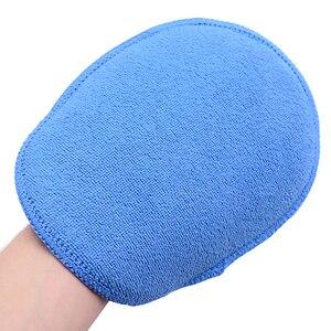 Image 3 - Tampons applicateurs de cire de voiture en microfibre, grande taille, tampons de polissage, éponge haute densité, gants de poche, enlever la cire, nettoyage des détails, 5 pièces