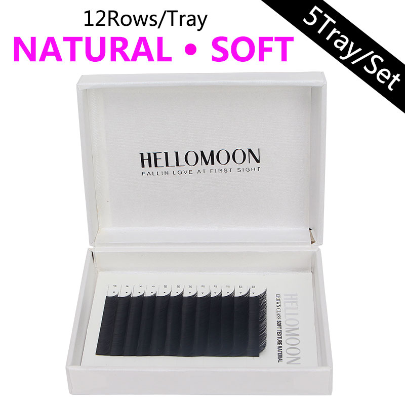 HELLOMOON eyelashes extension,lashes extension for professionals,8-12mm mix individual eyelashes,fake natural mink lashes все цены
