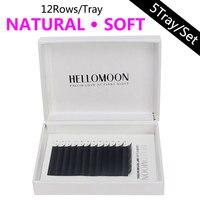 HELLOMOON eyelashes extension,lashes extension for professionals,8 12mm mix individual eyelashes,fake natural mink lashes