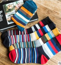 5 pairs lot colorful mens socks striped brand couple male Cotton socks chaussette homme calcetines hombre