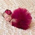 2016 новых 4 цветов новорожденного юбки с соответствующими цветы повязка на голову потрясающие новорожденных фото опора девушка юбки TT001