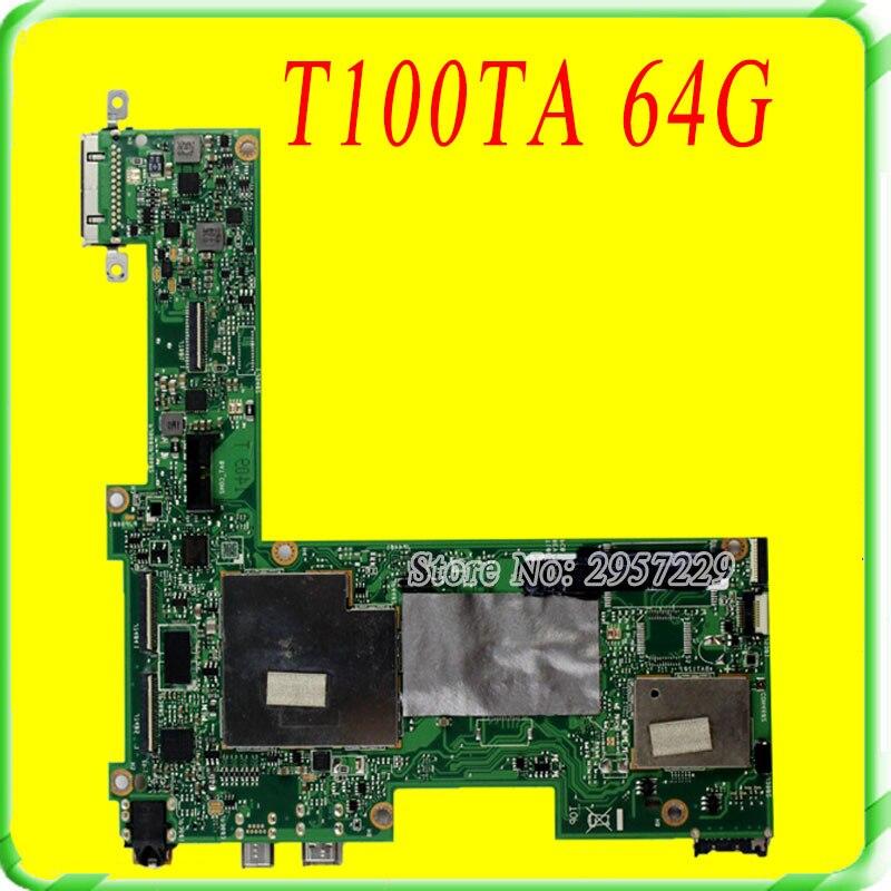 Transformer Tablet T100TA Mainboard For Asus Motherboard 64G Original 100% Work mainboard 100